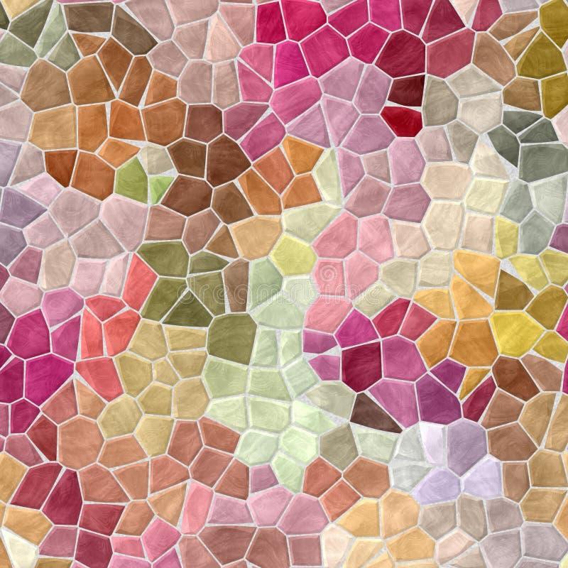 Barwionego abstrakta marmuru mozaiki wzoru nieregularny plastikowy kamienisty tło ilustracji