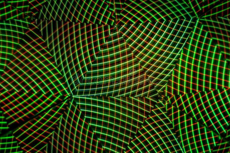 Barwioni światła w postaci linii który formularzowy abstrakt i symetryczni wzory D?uga ujawnienie fotografia Odbijający lustra obraz stock