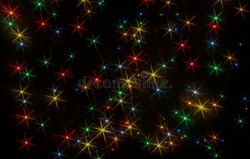Barwioni światła w postaci rayed gwiazd zdjęcie stock