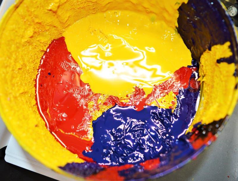 Barwioni atramenty dla drukowej pracy obraz royalty free