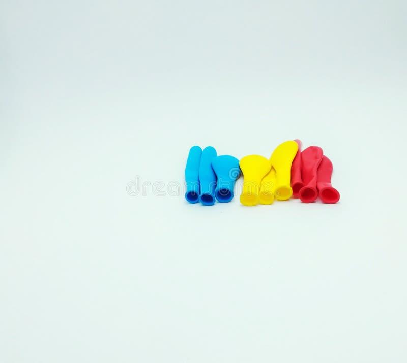 Barwioni balony jak flaga dla dzieci obraz stock
