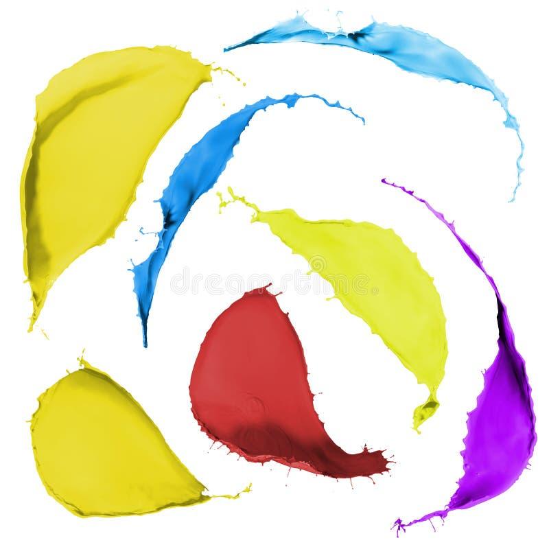 Barwioni farb pluśnięcia obrazy royalty free