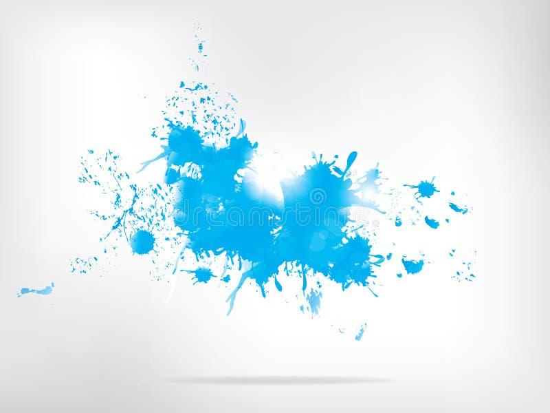 Barwioni farb pluśnięcia na abstrakcjonistycznym tle ilustracja wektor