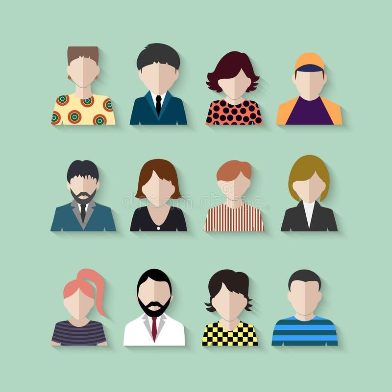 Barwioni ikon ludzie ilustracja wektor