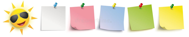 Barwioni kij szpilek chodnikowa słońca okulary przeciwsłoneczni ilustracji