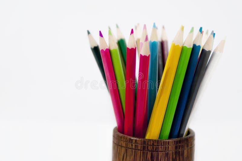 barwioni ołówki obraz royalty free