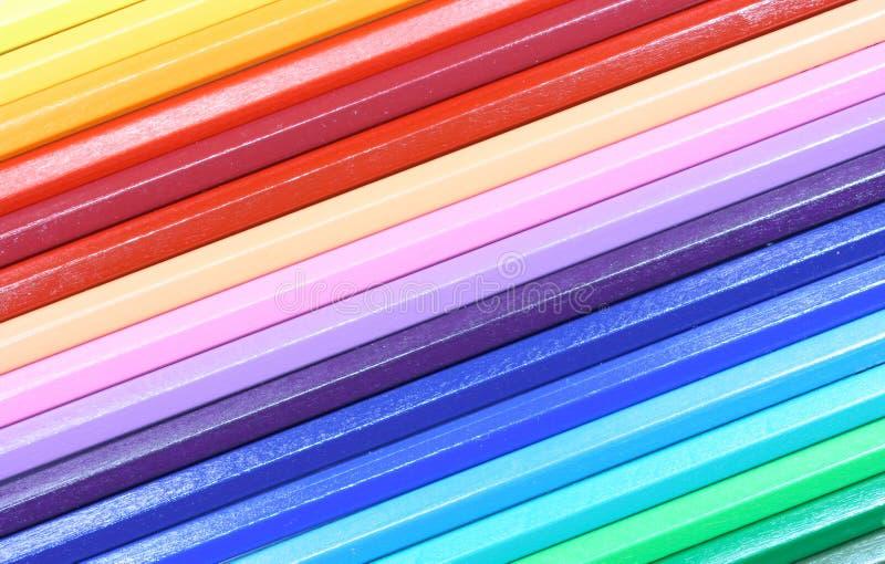 Barwioni Ołówki Bezpłatne Zdjęcie Stock