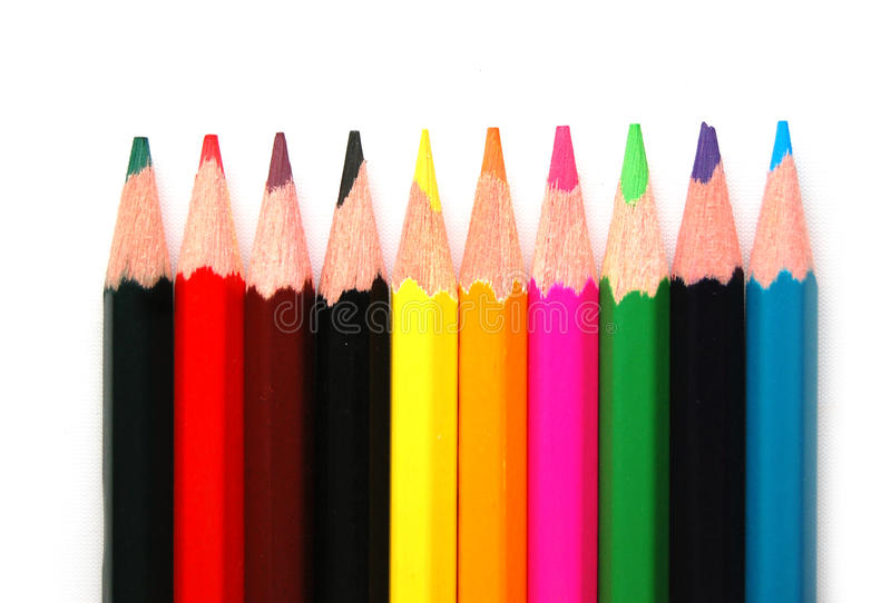 Barwioni ołówki obraz stock