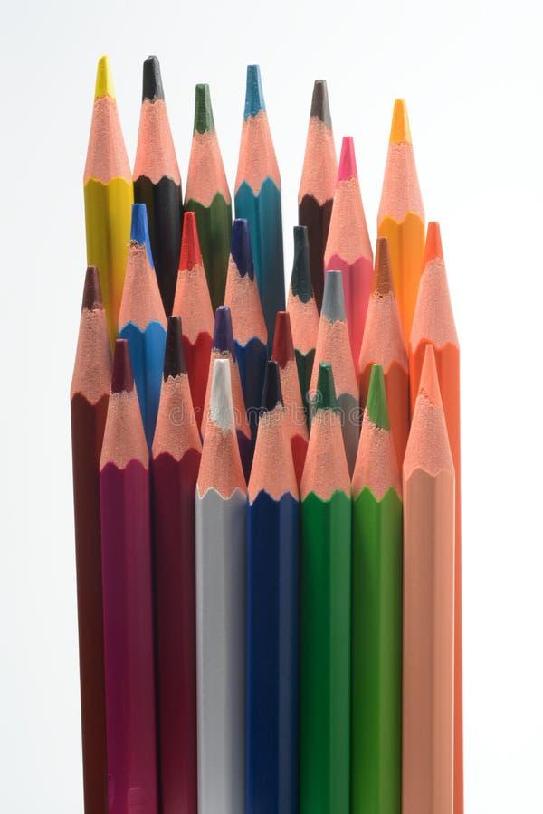 barwioni ołówki niektóre obraz royalty free