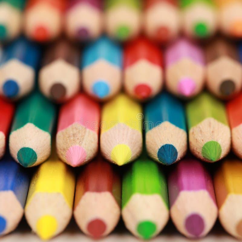 Barwioni ołówki z copyspace zdjęcie royalty free