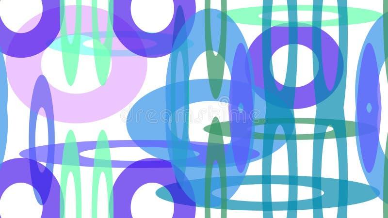 Barwioni okręgi różni rozmiary ilustracji