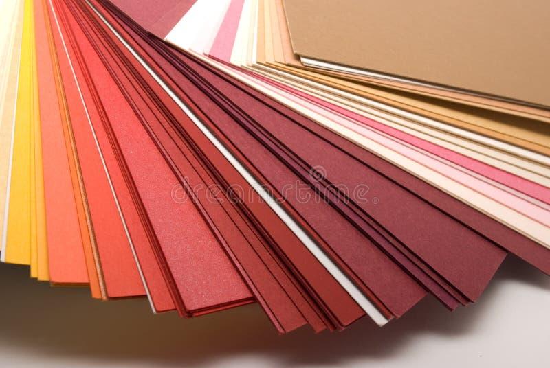 barwioni papiery obrazy stock