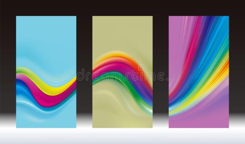 Barwioni Pionowo sztandary ilustracji