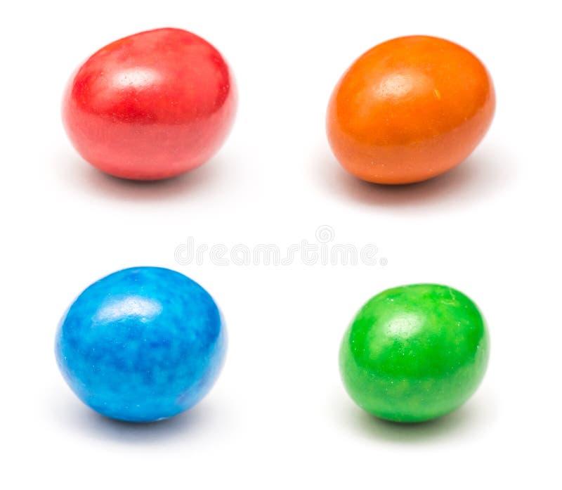 Barwioni Pokryci Czekoladowi cukierki obrazy stock
