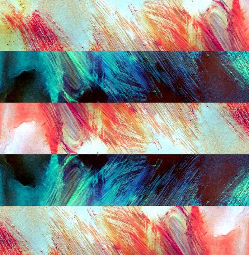 Barwioni punkty na papierze przestawni paski Paleta z farb plamami ilustracja wektor