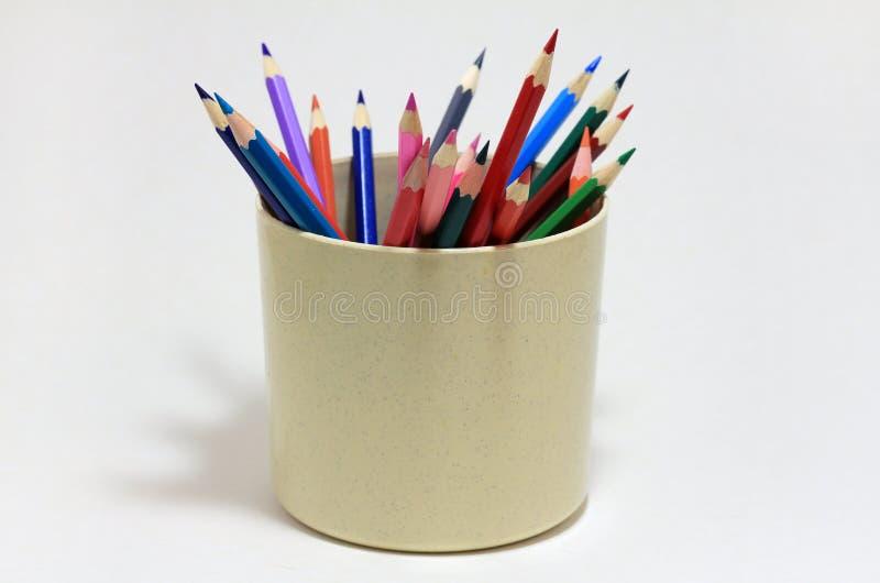 barwioni szklani ołówki fotografia royalty free