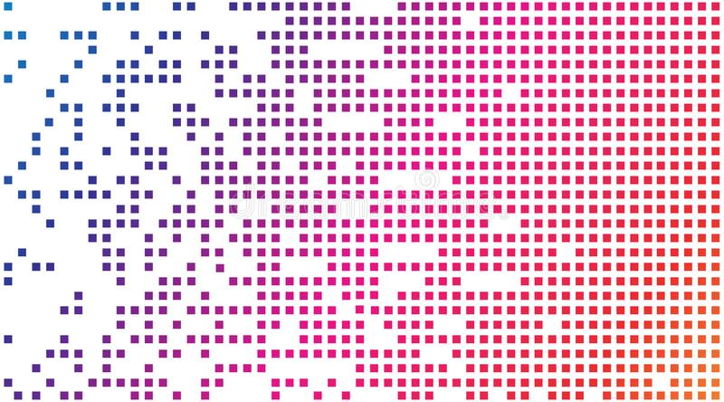 barwioni tło kwadraty geometryczny wzór ilustracji