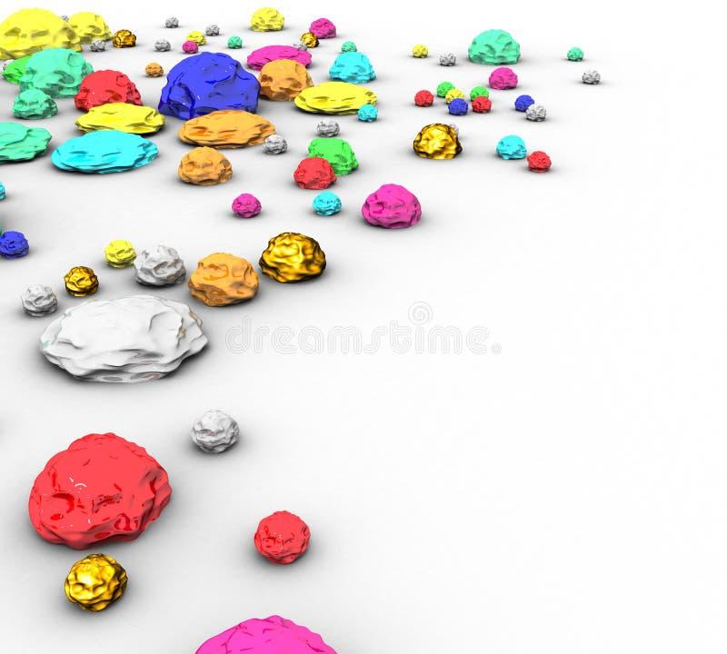 barwioni wielo- kamienie ilustracji
