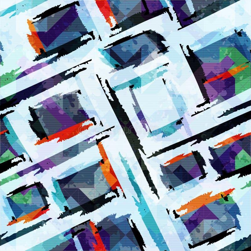 Barwiony abstrakcjonistyczny bezszwowy wzór w graffiti projektuje ilości wektorową ilustrację dla twój projekta ilustracji