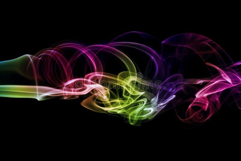 Barwiony abstrakta dym zdjęcia stock