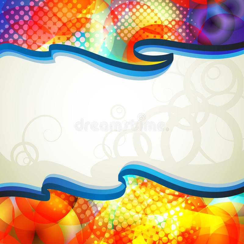 Barwiony abstrakta tło royalty ilustracja