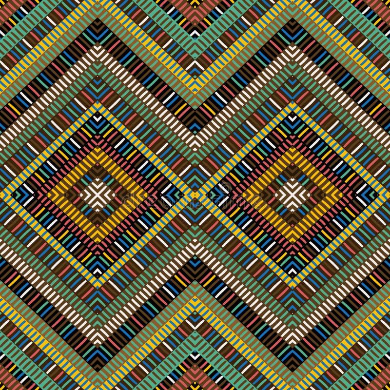 Barwiony afrykański geometrical motywu tło royalty ilustracja