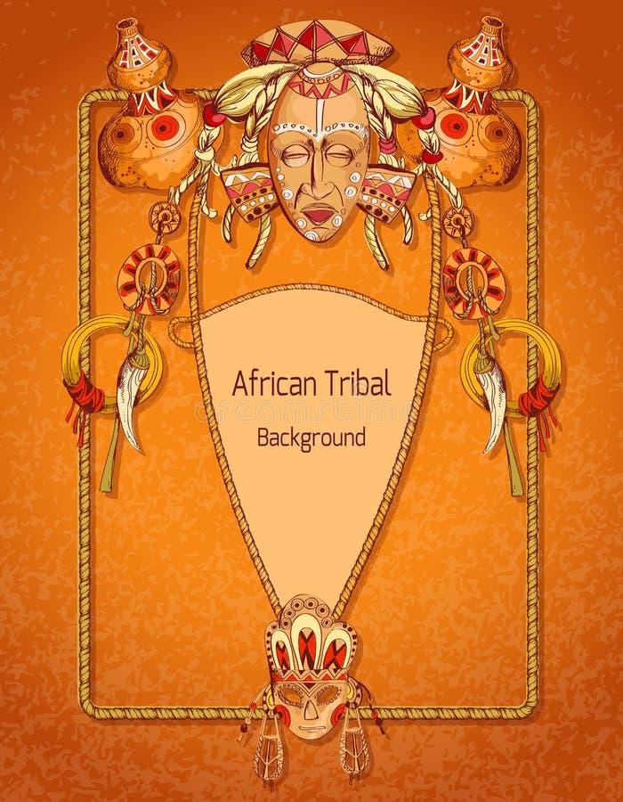 Barwiony afrykanina tło ilustracja wektor