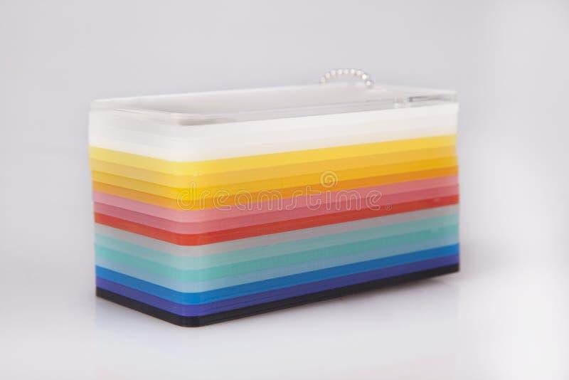 Barwiony Akrylowy stos fotografia stock