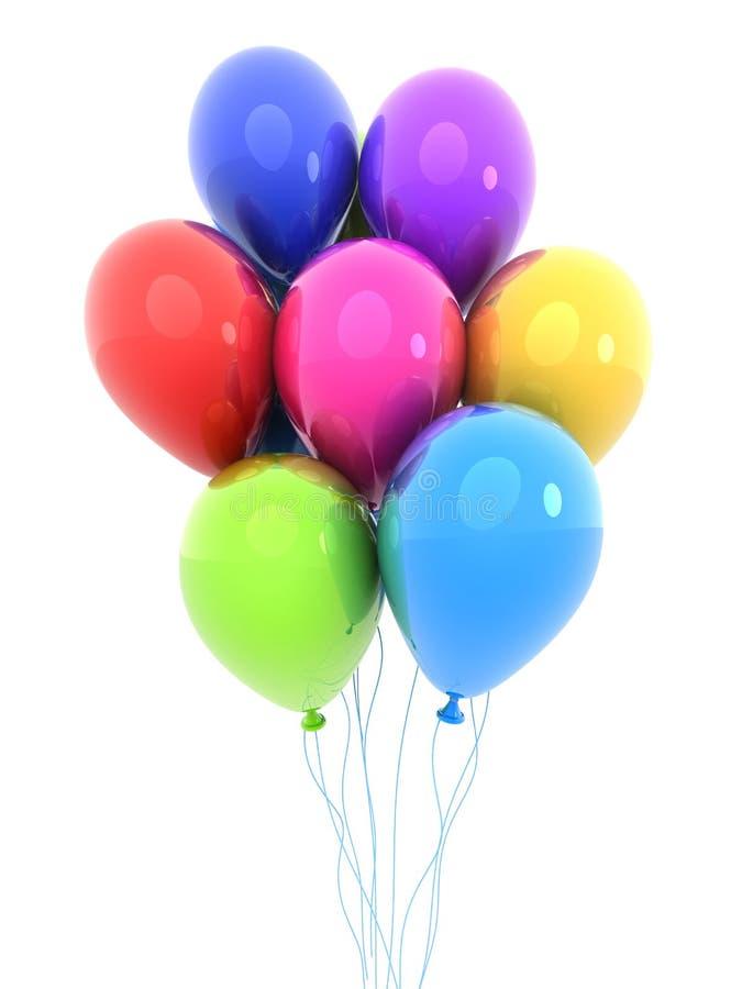 Barwiony balon, odosobniony tło obrazy stock