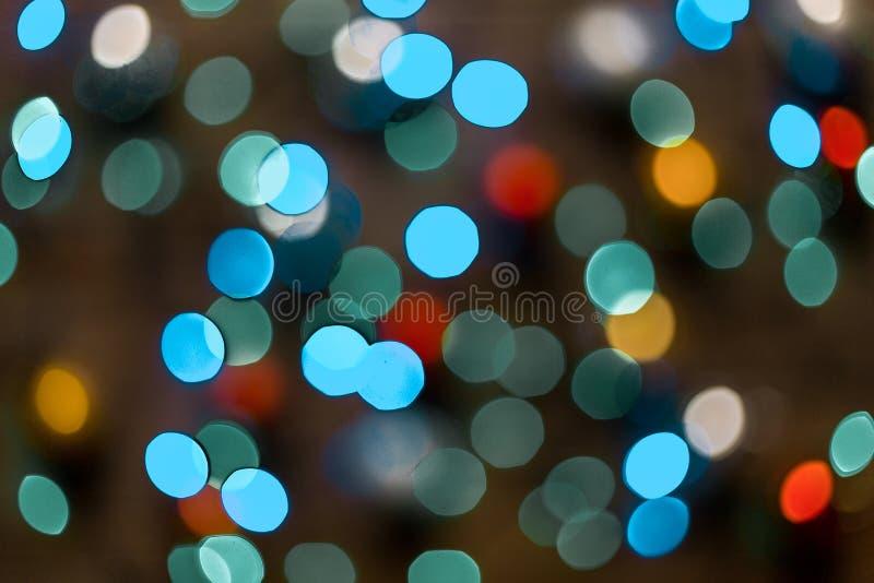 Barwiony Defocused bożonarodzeniowe światła tło Bokeh abstrakcjonistyczni światła fotografia royalty free