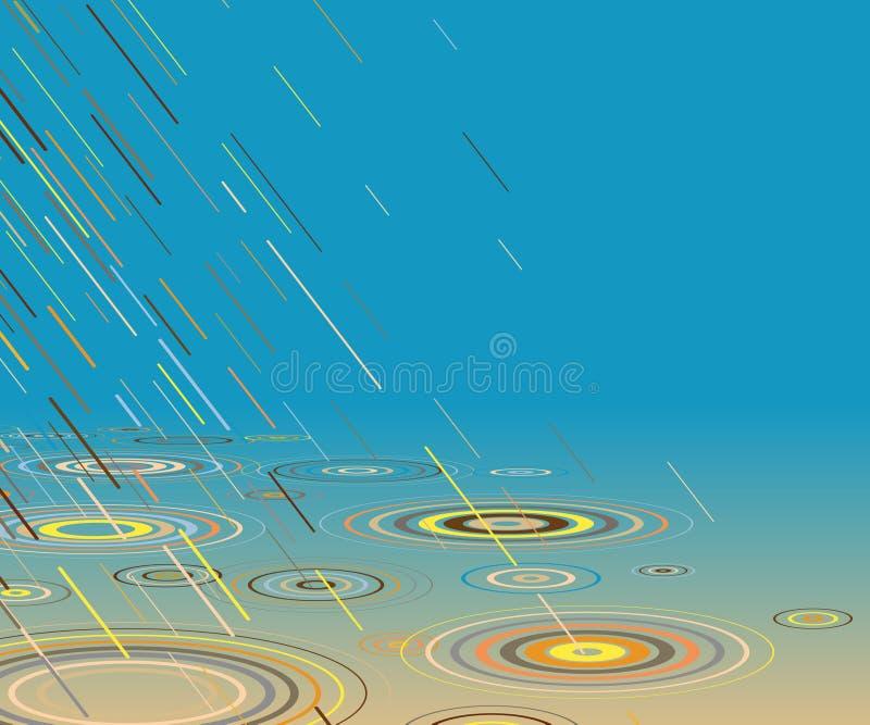 barwiony deszcz ilustracji