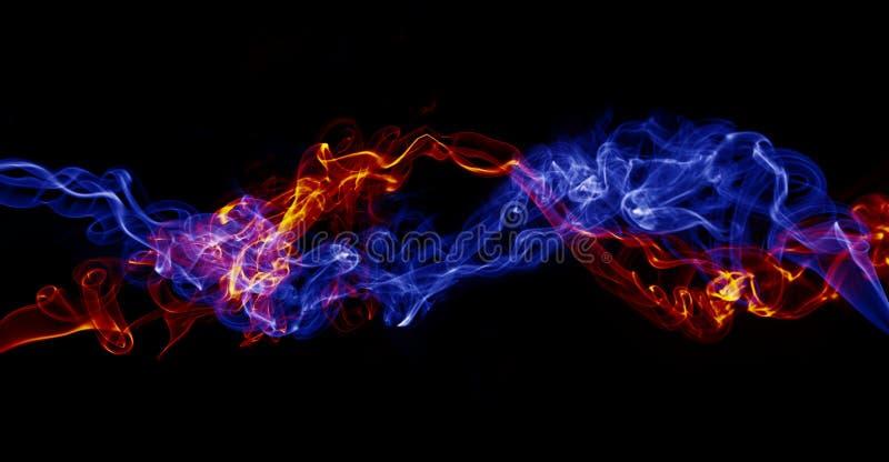 Barwiony dym obrazy stock