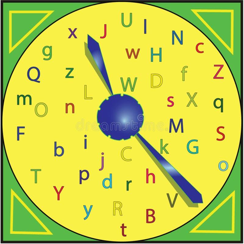 Barwiony elegancki zegar zdjęcie royalty free