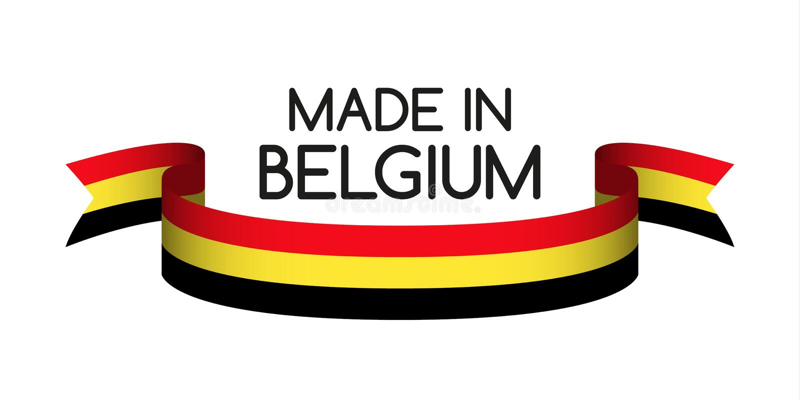 Barwiony faborek z Belgijski tricolor, Robić w Belgia ilustracji