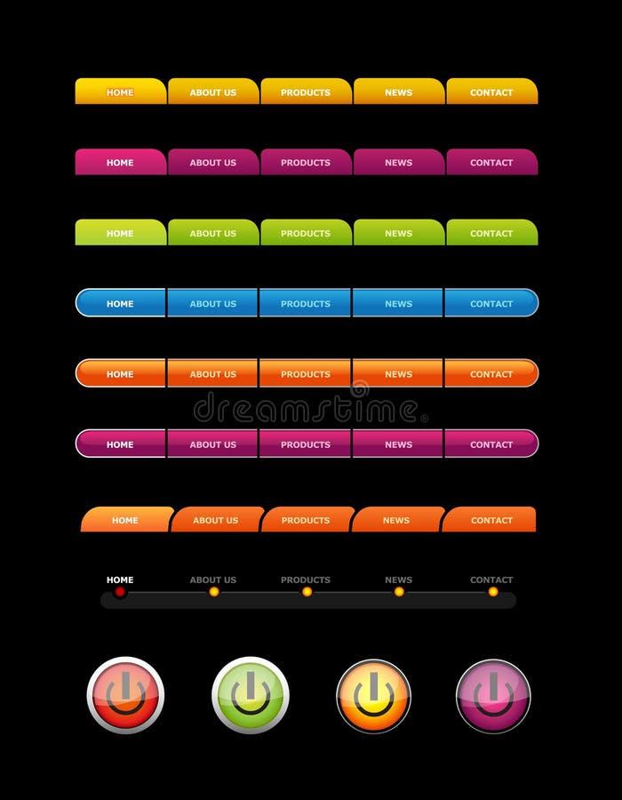 Download Barwiony guzika set ilustracja wektor. Ilustracja złożonej z guzik - 13329825