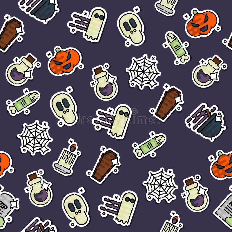 Barwiony Halloween wzór ilustracji