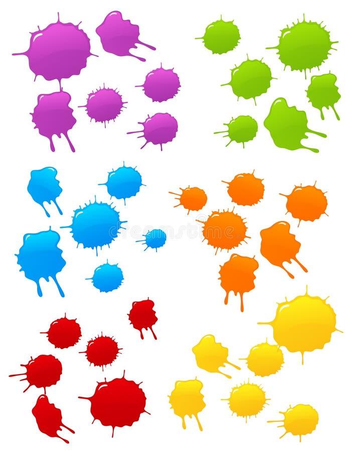 Download Barwiony kleksa set ilustracja wektor. Ilustracja złożonej z element - 7808918