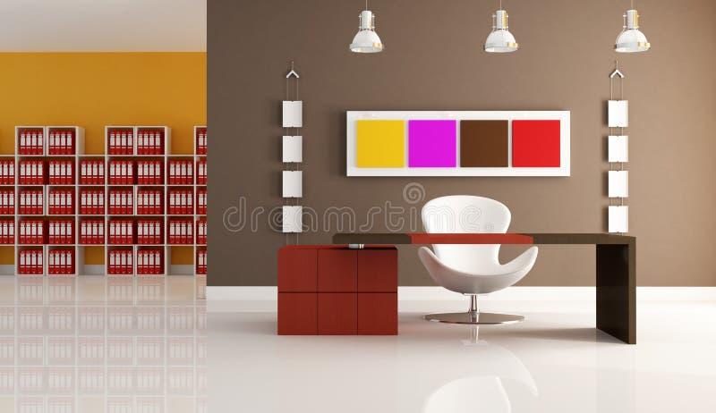 barwiony nowożytny biuro ilustracji