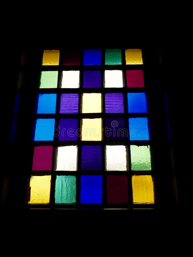 Barwiony okno wzór obrazy stock