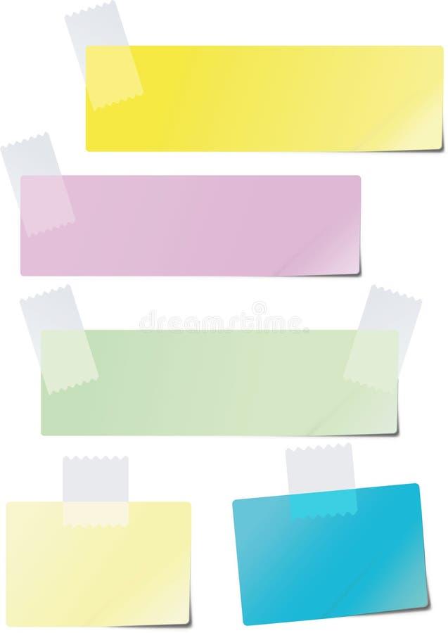 barwiony papier royalty ilustracja