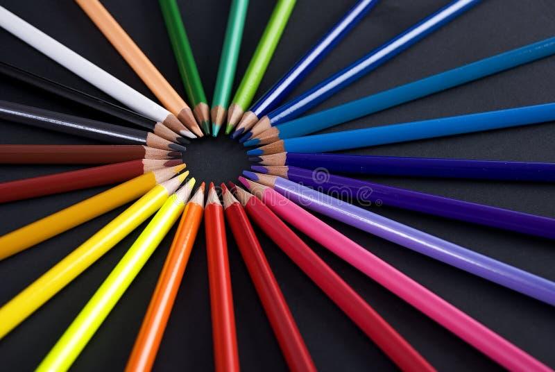 Barwiony Penciles zdjęcia stock