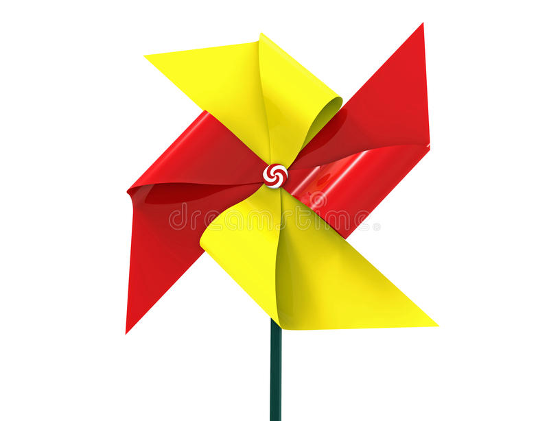 Barwiony Pinwheel ilustracji