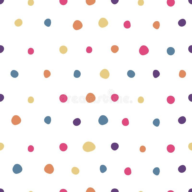 Barwiony polki kropki bezszwowy wzór ?liczna tapeta ilustracji