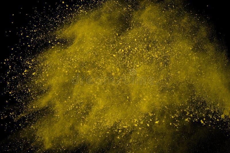 Barwiony prochowy wybuch Colore pył splatted fotografia stock