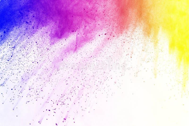 Barwiony prochowy wybuch Colore pył splatted zdjęcie royalty free