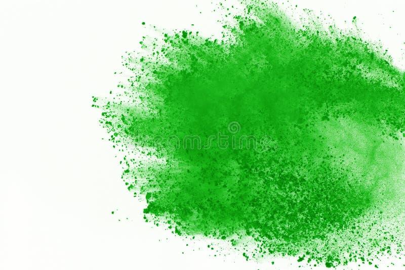 Barwiony prochowy wybuch Colore pył splatted obraz royalty free