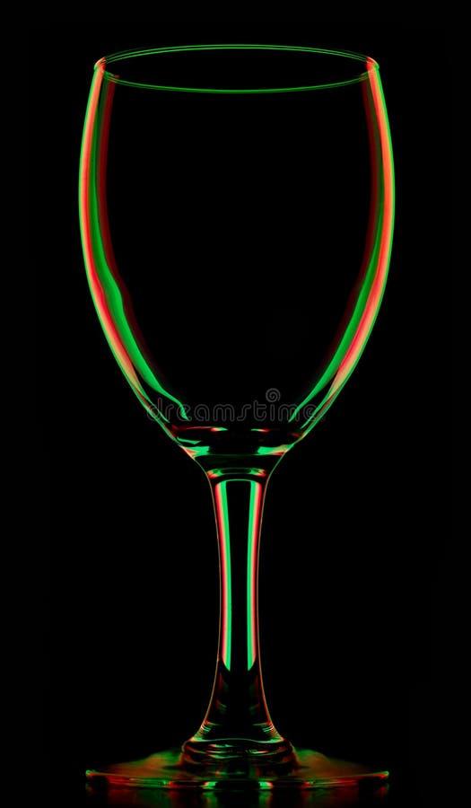 barwiony pusty szklany przejrzysty wino zdjęcia stock