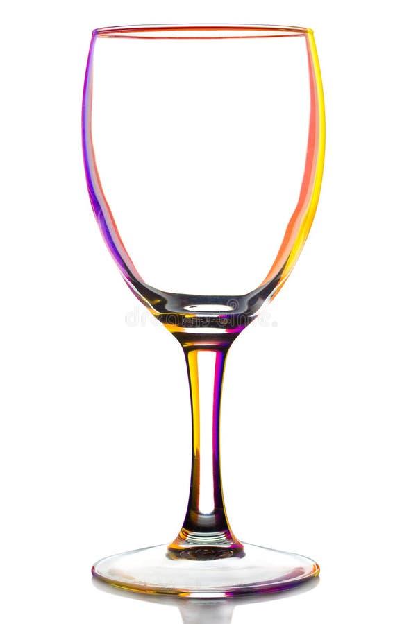 barwiony pusty szklany przejrzysty wino obraz stock