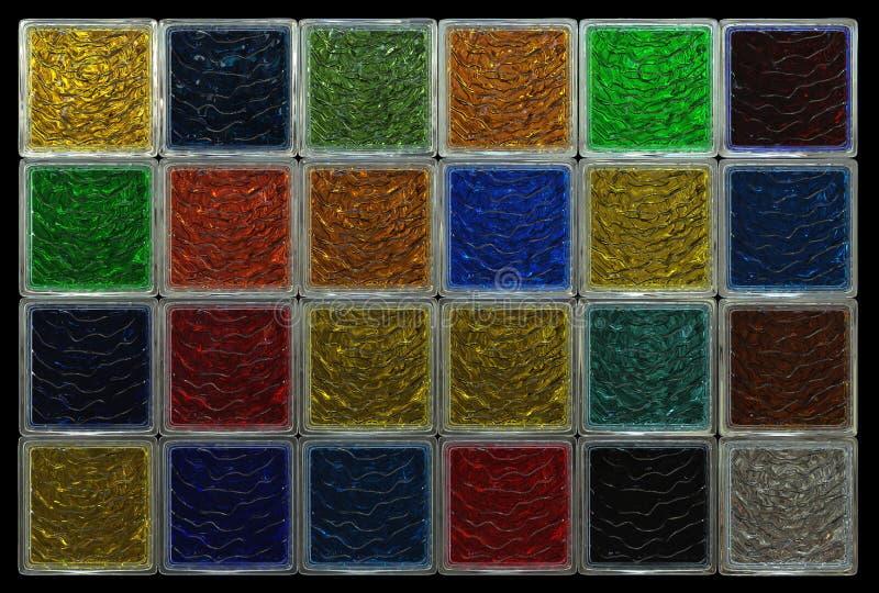 Barwiony szklanych bloków tło zdjęcia royalty free
