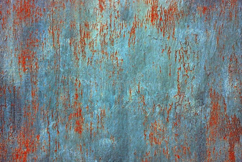 Barwiony tło od kawałka stary żelazny ośniedziały talerz obrazy stock